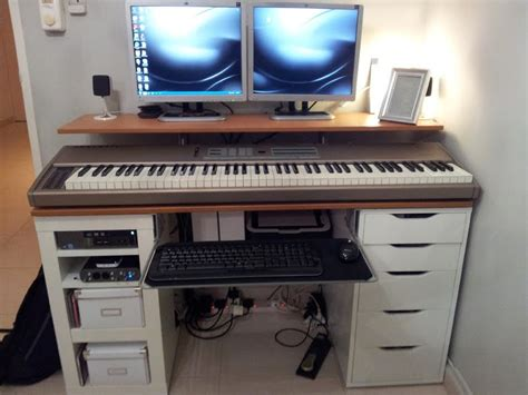 recording studio desk ikea ikea hackers integrated computer music work desk love