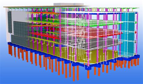 structural layout of a building tekla for structural engineering analysis and design tekla