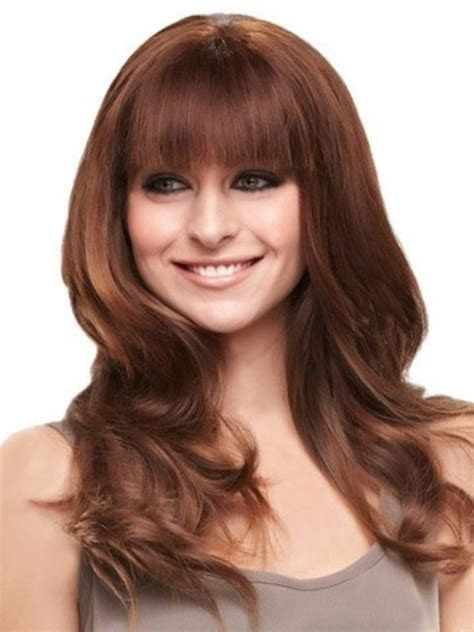 haircut for round face long hair with bangs 15 cute long hairstyles with bangs which will make you