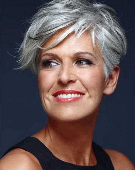 looking with grey hair short hair styles for older women