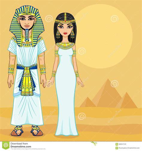 imagenes vestimenta egipcia antigua familia egipcia de la animaci 243 n en ropa antigua