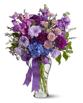 Purple Flower Vase by Fancy Purple Flower Vase By 1 800 Florals Florist Delivery