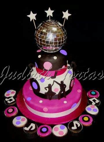 lada da discoteca torta decorada con fondant quot disco quot quincea 241 eras y