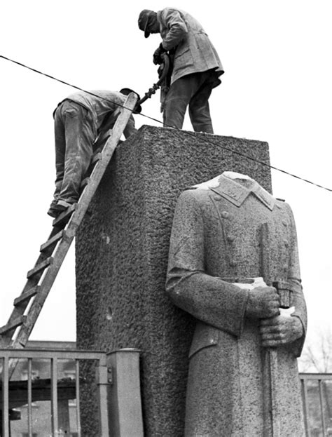 War-damaged statue in Berlin, 1947 - From the Archives
