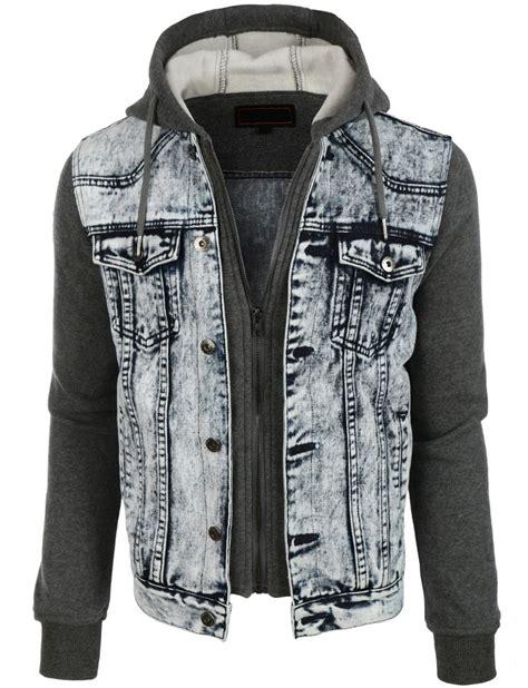 Jaket Hodie Inspire denim jean jacket with hoodie jacket to