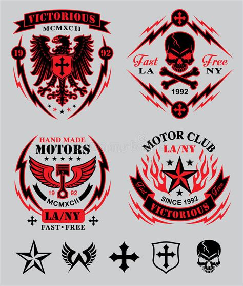 motor club emblem set stock vector illustration of decal