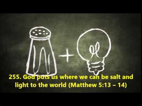 255 god puts us where we can be salt and light to the