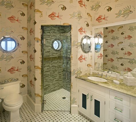 Porthole Windows Bathroom Decorating 32 Sea Style Bathroom Interior And Decorating Inspiration Home Improvement Inspiration