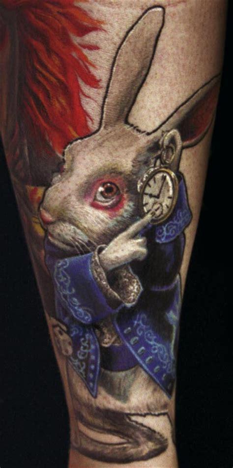 tattoo old school rabbit 100 best alice in wonderland tattoos tattooblend