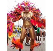 Orange &amp Fuchsia Wild Tribal Caribbean Luxury Costume