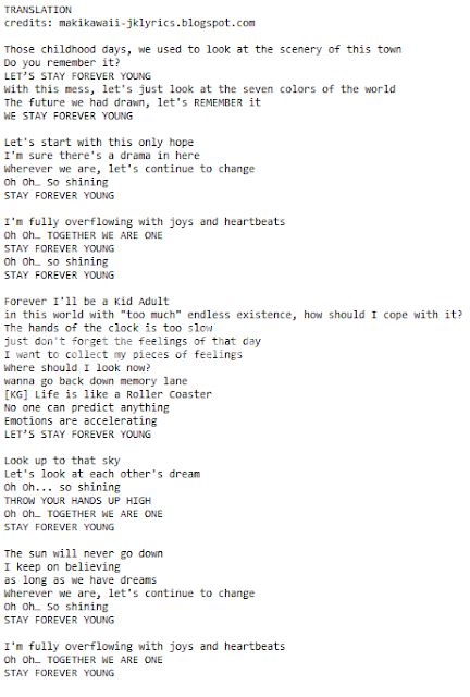 forever testo random jpop and kpop lyrics translations b2st stay