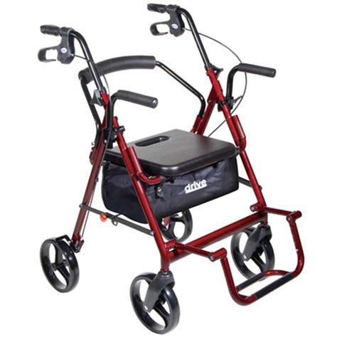 Drive Duet Rollator Transport Chair - drive duet transport wheelchair rollator walker at