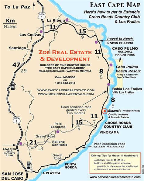 eastern mexico map cabo villa rentals real estate in los cabos and the east