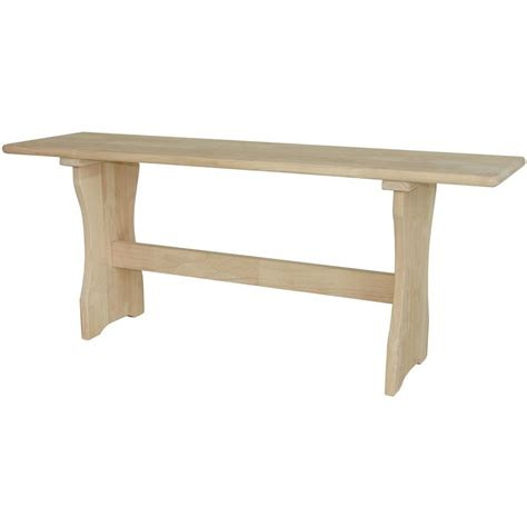 unfinished furniture bench international concepts unfinished bench be 4312 the home