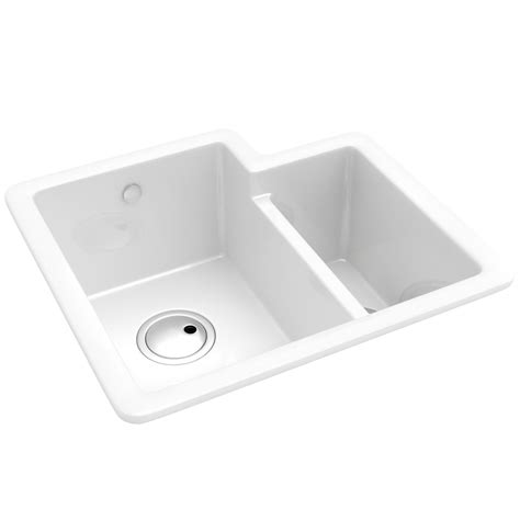 Kitchen Bowl Sink Abode Matrix Cr25 1 5 Bowl Ceramic Kitchen Sink Aw1010
