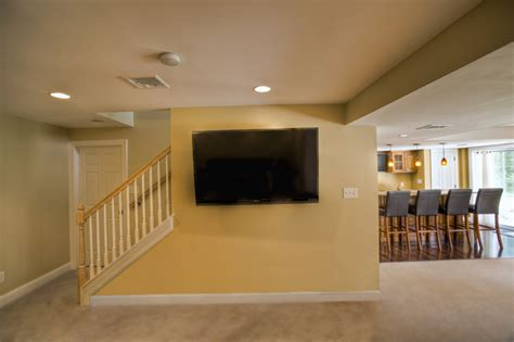 buck finished basement with bar traditional
