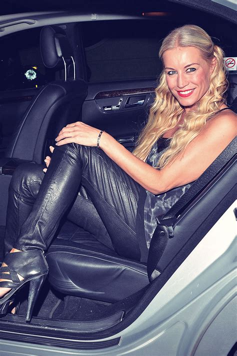 denise van outen leaving  arts theatre leather