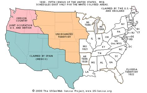 map of the united states in 1830 1830 us map
