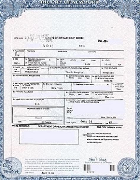 City Of New York Vital Records Birth Certificates Related Keywords Suggestions For Legalize A Birth Certificate