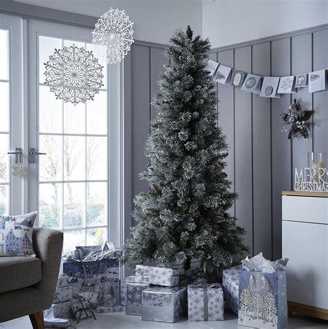 new tesco luxury 6 5ft alpine snow artificial christmas