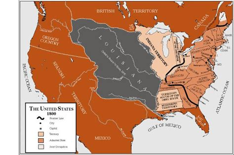 map of the united states in 1800 the united states in 1800