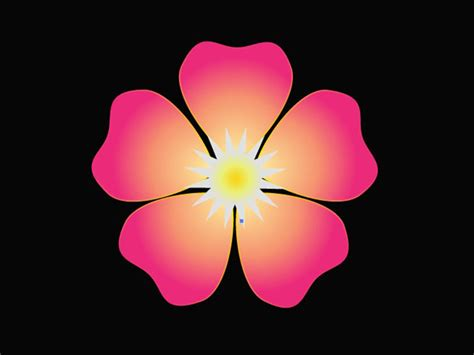 how to make a flower in adobe illustrator 10 steps