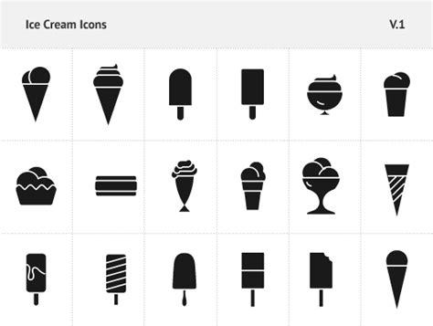 ice cream icons vector amp psd