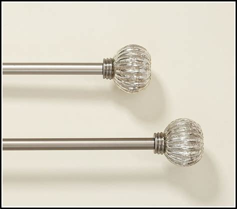 curtain rods glass finials silver curtain rods with glass finials curtains home