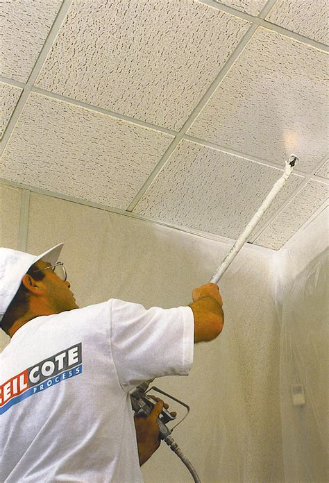 Paint Sprayer For Ceilings by Ceiling Spray Painting By Ceilcote Ceilcote Paint
