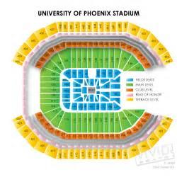University Of Phoenix Stadium Map by University Of Phoenix Seating Chart And Event Tickets