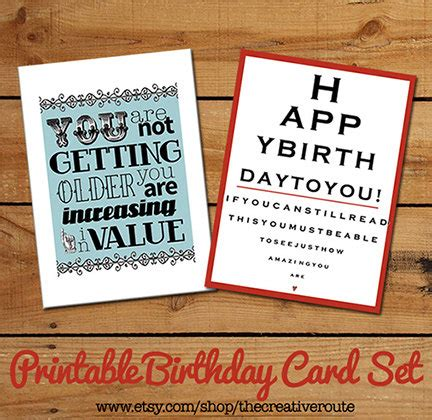 printable birthday quotes items similar to printable birthday cards funny birthday