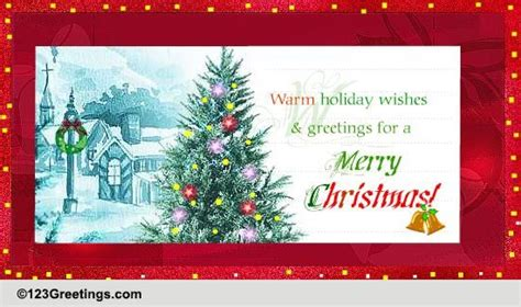 warm holiday wishes  business  ecards greeting cards
