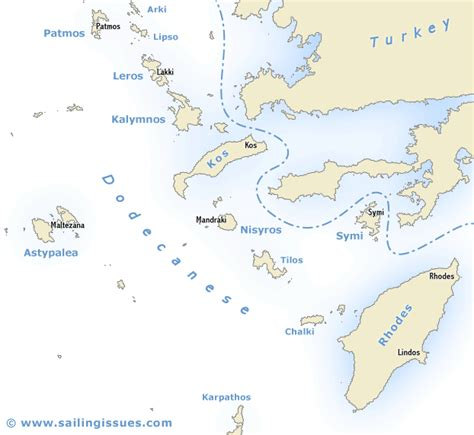 sailing maps greece sailing map of the dodecanese greece