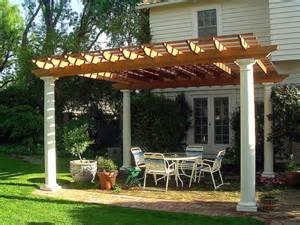 outdoor dining pergola by trellis structures