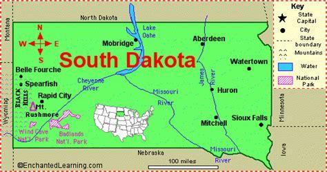 dakota map usa south dakota map and south dakota satellite images