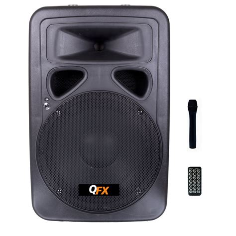 quantum fx   cabinet speaker  built  amplifier