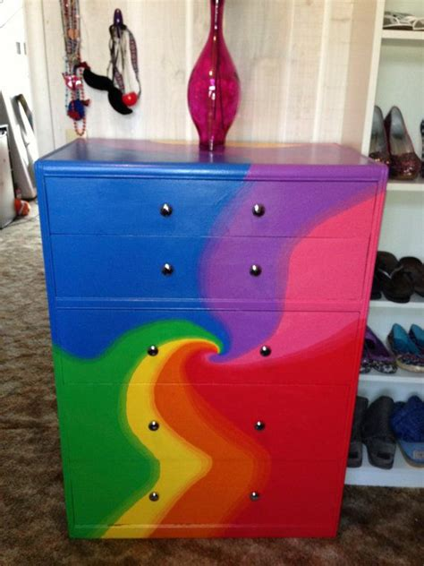 tie dye dresser by saruhsunshine on etsy 500 00 psychedelic bedroom ideas more