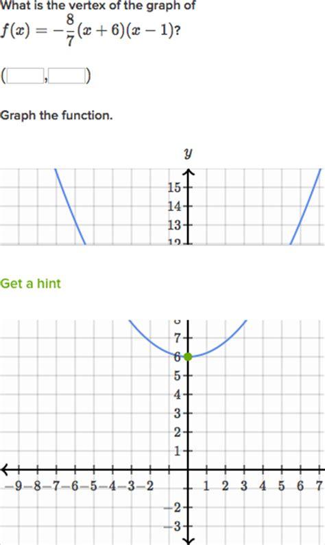 Graphing Quadratics In Vertex Form Worksheet 1 Answer Key