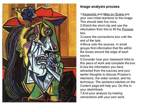 picasso paintings explanation picasso weeping woman analysis pack