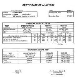 certificate of analysis template certificate of analysis template coa gif meal plan