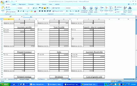 accounting journals excel templates