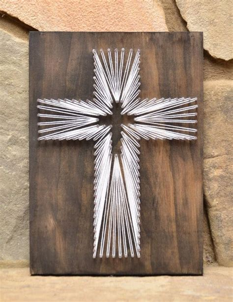 wooden art home decorations easter cross string art wood decor religious art decor