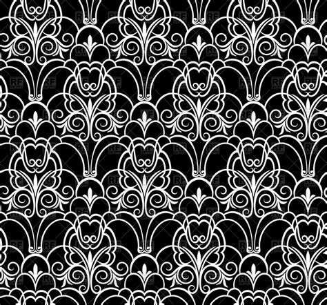 pattern vector black black and white seamless damask pattern