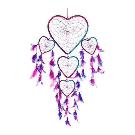 heart dreamcatcher tattoo catcher handmade aqua pink purple shape 8