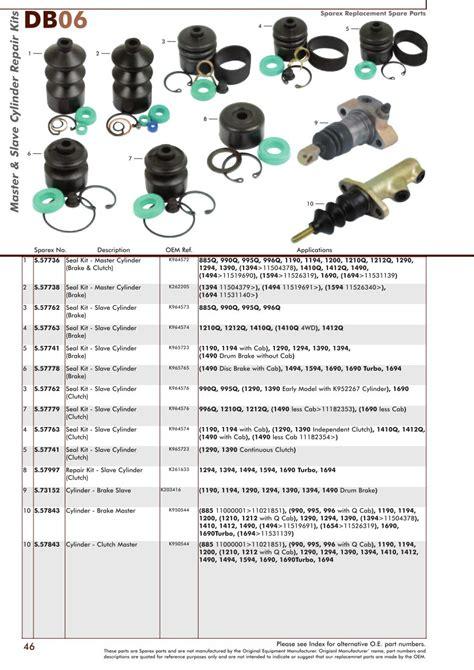 david brown brakes page 48 sparex parts lists