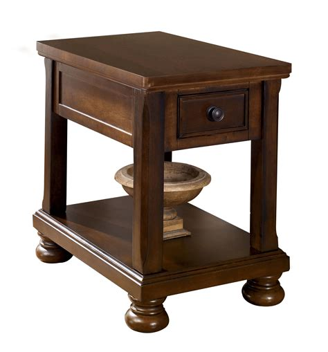 ashley furniture porter brown chair side table  classy home