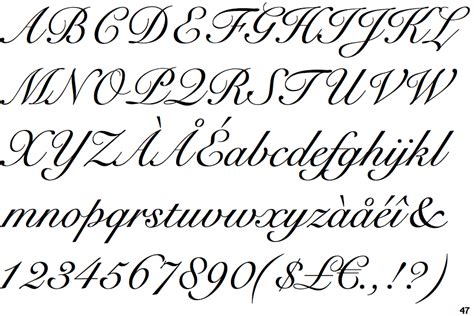 Roundhand 76 Cc snell roundhouse font