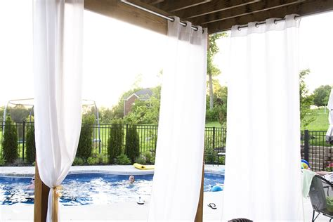 Curtain Drapes Ideas Hanging Outdoor Curtains The Polkadot Chair