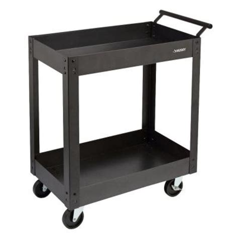 Home Depot Cart by Husky 31 In Steel Utility Cart 2 Tray Pmt 102r3 The