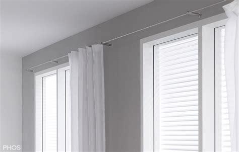 gardinensysteme decke vorhangstange und gardinenstangen aus edelstahl cns matt
